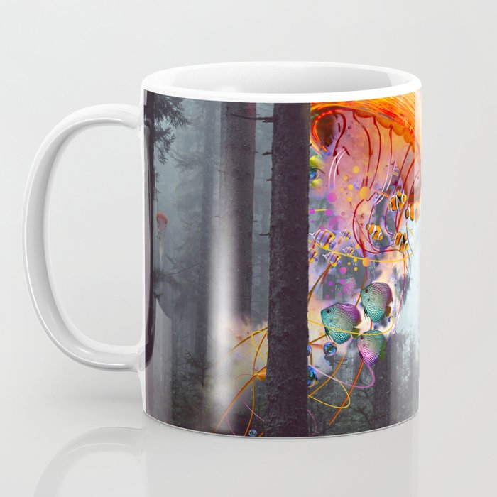 ElectricJellyfish Worlds in a Forest Coffee Mug