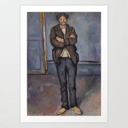 Peasant Standing with Arms Crossed Art Print