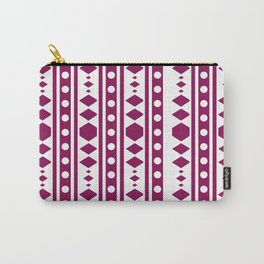 Marsala Tribal Pattern Carry-All Pouch