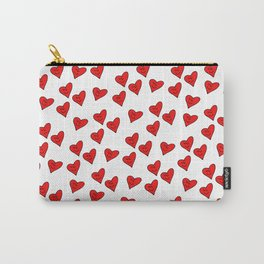 happy red hearts 2 Carry-All Pouch