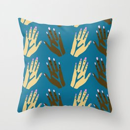 All blood is the same - blue Throw Pillow