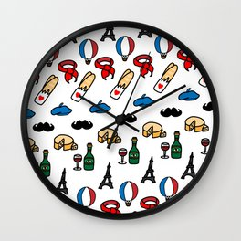 French Icons Wall Clock