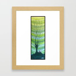 Happy Critter Tree no. 6 Framed Art Print