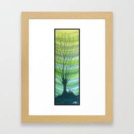 Happy Critter Tree no. 6 Framed Art Print