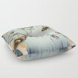 all the buzz Floor Pillow