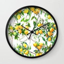 Lemons on the Tree Wall Clock