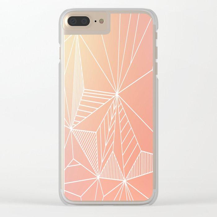 Paradise Geo Blush Clear iPhone Case