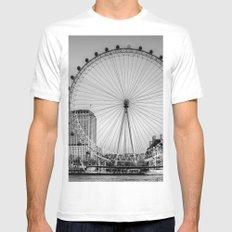 London Eye, London Mens Fitted Tee White MEDIUM
