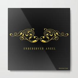 Undercover Angel: Wings Metal Print