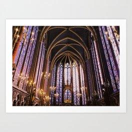 Sainte Chappelle Art Print