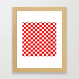 Checkers - Red and White Framed Art Print