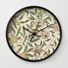 William Morris Fruit Pattern Wall Clock