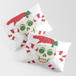 Creepy Christmas Santa Skull Pillow Sham