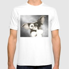 F*** OFF GIZMO MEDIUM White Mens Fitted Tee