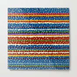 African American Masterpiece 'Light Blue Nursery'' by Alma Thomas Metal Print