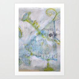 trumpet player Art Print