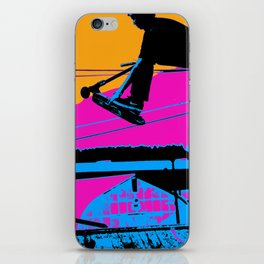 Tail Grabbing High Flying Scooter iPhone Skin