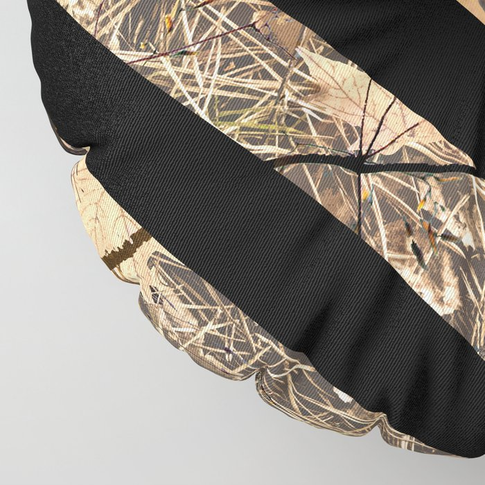 Hunting Camouflage Flag 3 Floor Pillow