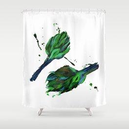 Artichoke #1 and artichoke #2 Shower Curtain