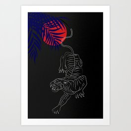 Tiger at night Art Print