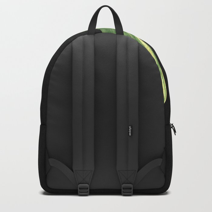 Simple Green Cactus on Black Backpack