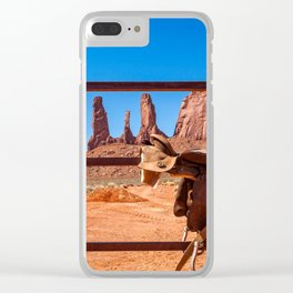 Saddle up in Wild West Clear iPhone Case