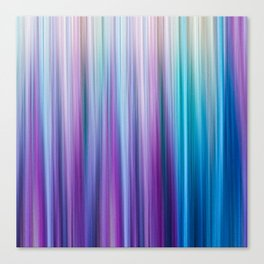 Abstract Purple and Teal Gradient Stripes Pattern Canvas Print