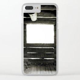 LIGHT LEAKS LOG CABIN Clear iPhone Case