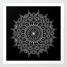 f1c48d17f Black And White Mandala Tattoo Art Print