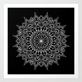 Black And White Mandala Tattoo Art Print