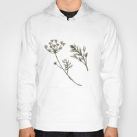 botanical Hoodies featuring Dill Botanical by CHAR ODEN