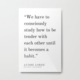 16  | Audre Lorde |Audre Lorde Quotes | 200621 | Black Excellence Metal Print