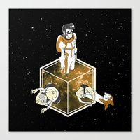 space dandy Canvas Prints featuring Space Dandy - Welcome to Dimension X by tsuzuku