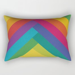 Bright Summer Lines Rectangular Pillow