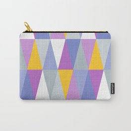 Big Triangles | Yellow, Blue & Purple Carry-All Pouch