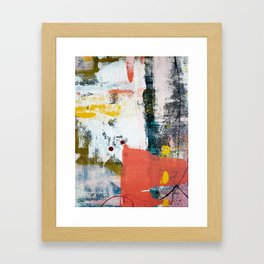 13th and Grant: a pretty street art piece in pink black and yellow by Alyssa Hamilton Art Framed Art Print