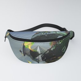 Mysterious Flying Vehicle Landing Fanny Pack