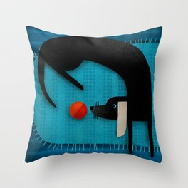 EYE ON THE BALL Throw Pillow