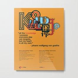 Knowledge Metal Print