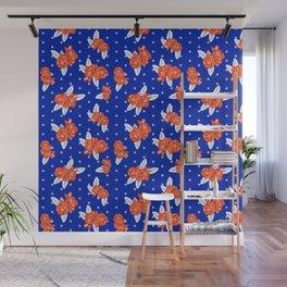 Florida fan gators university orange and blue team spirit football college sports florals Wall Mural