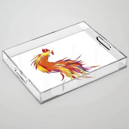 Red Rooster Acrylic Tray