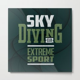 Sky Diving Extreme Sport Metal Print