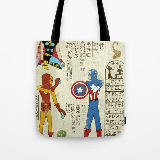 hero-glyphics: Avengers Tote Bag