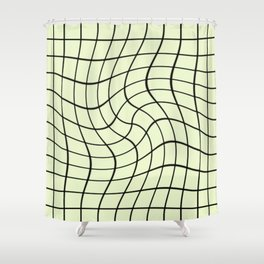 Plain Graph: Green Shower Curtain