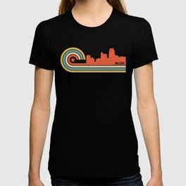 Retro Raleigh North Carolina Skyline T-shirt