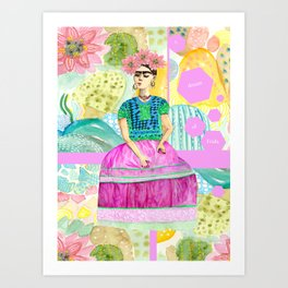 a dream of Frida Art Print
