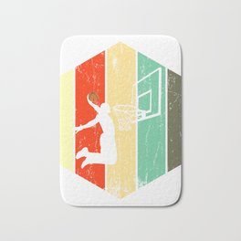 A Basketball Tee For Players With A Vintage Retro Silhouette Of A Man Showing His Skills T-shirt Bath Mat