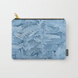 Frost pattern on glass in winter Carry-All Pouch