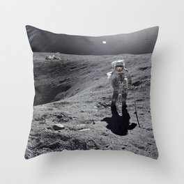 Apollo 16 - Plum Crater Throw Pillow