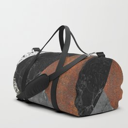 Marble, Granite, Rusted Iron Abstract Duffle Bag